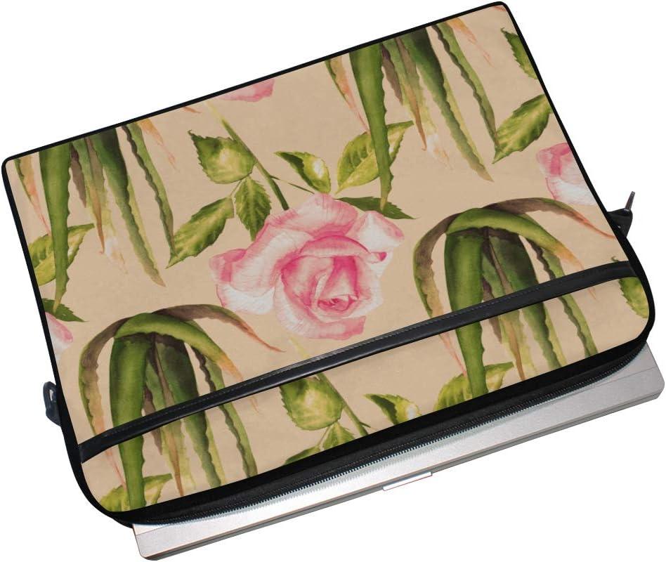 College Students Business People Office Workers Briefcase Messenger Shoulder Bag for Men Women Laptop Bag Botanical Green Aloe Vera 15-15.4 Inch Laptop Case