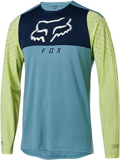 Fox Flexair Delta - Camiseta de manga larga para ciclismo de montaña, color azul, talla M: Amazon.es: Ropa y accesorios