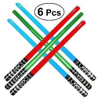 Toyvian 100cm Grandes Espadas inflables | Sable de luz Juguetes para Niños, Paquete de 6