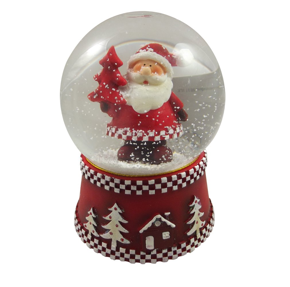 Gisela Graham Traditional Musical Snowglobe - Modern Father Christmas Design