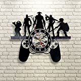 Creative Wall Clock Modern Design Super Mary Gaming Character Clocks Mute Vintage Vinyl CD Record Wall Watch Home Decor 12 Inch