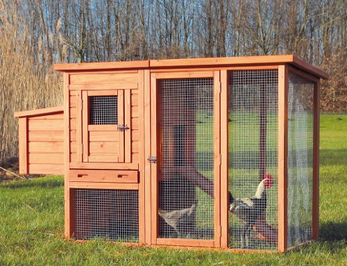 TRIXIE Pet Products Chicken Coop with Outdoor Run, 66.75 x 30.25 x 41.25 inches by TRIXIE Pet Products (Image #1)