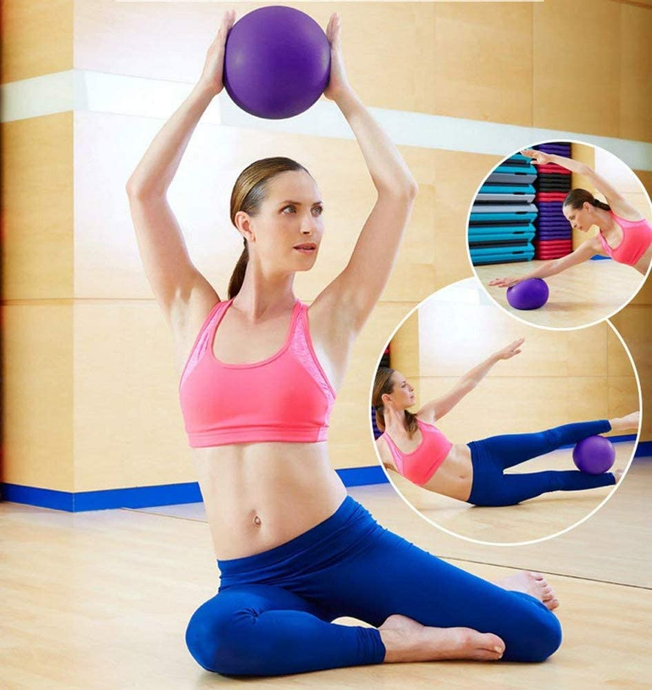 Mini Yoga Ball Tsfan Stability Exercise Ball For Yoga Pilates Ballet Barre Ball Workout Core Cross