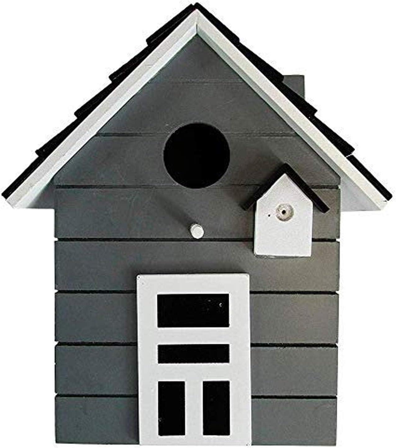 CasaJame Hogar Accesorios Decoración Jardín Casa para Pájaros Gris 17x12x20cm
