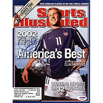 e161575d1 Clint Mathis Autographed Signed Sports Illustrated Team USA  X23393 -  PSA DNA Certified - Autographed Soccer Magazines