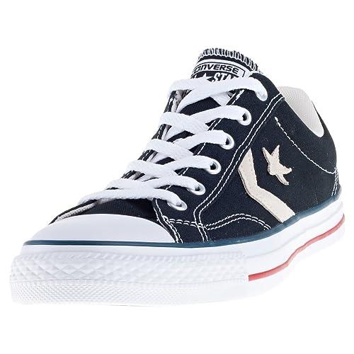 52b9232f40 Converse Lifestyle Star Player OX Canvas, Zapatillas de Deporte Unisex  Adulto, Negro (Black/Milk 009), 48 EU: Amazon.es: Zapatos y complementos