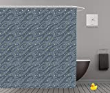 Shower Curtains 2.0 by iPrint,Pe9451_Seamless Pattern Of Many Bright Stars In The Night Sky Can Be Used For Wallpaper Textile,Bathroom Accessories,Waterproof Bathroom Shower Curtain Set with Hooks,Upd