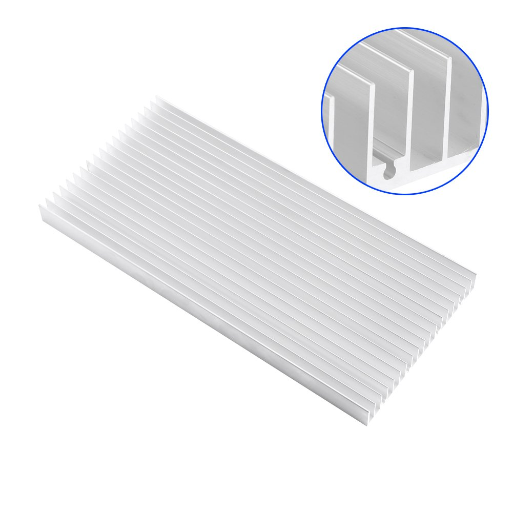 Aluminum Heat Sink Heatsink Module Cooler Fin for High Power Amplifier Transistor Semiconductor Devices with Dense 19 pcs Fins 11.8''(L) x 5.51''(W) x 0.79''(H) / 300 mm (L) x 140 mm (W) x 20 mm (H) by walfront (Image #3)