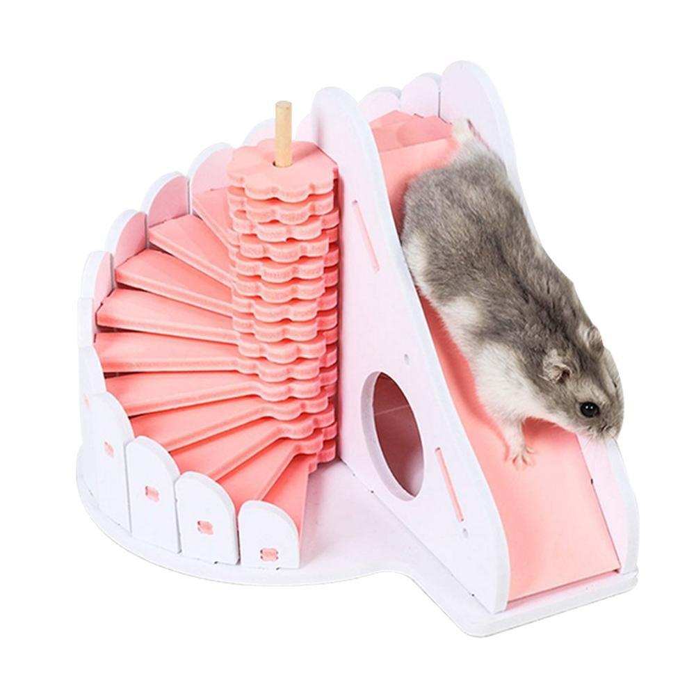 Maison De Hamster Escalier Démontable Imperméable Castel Villa avec Plate-Forme 2 Couches pour Petits Animaux CampHiking®