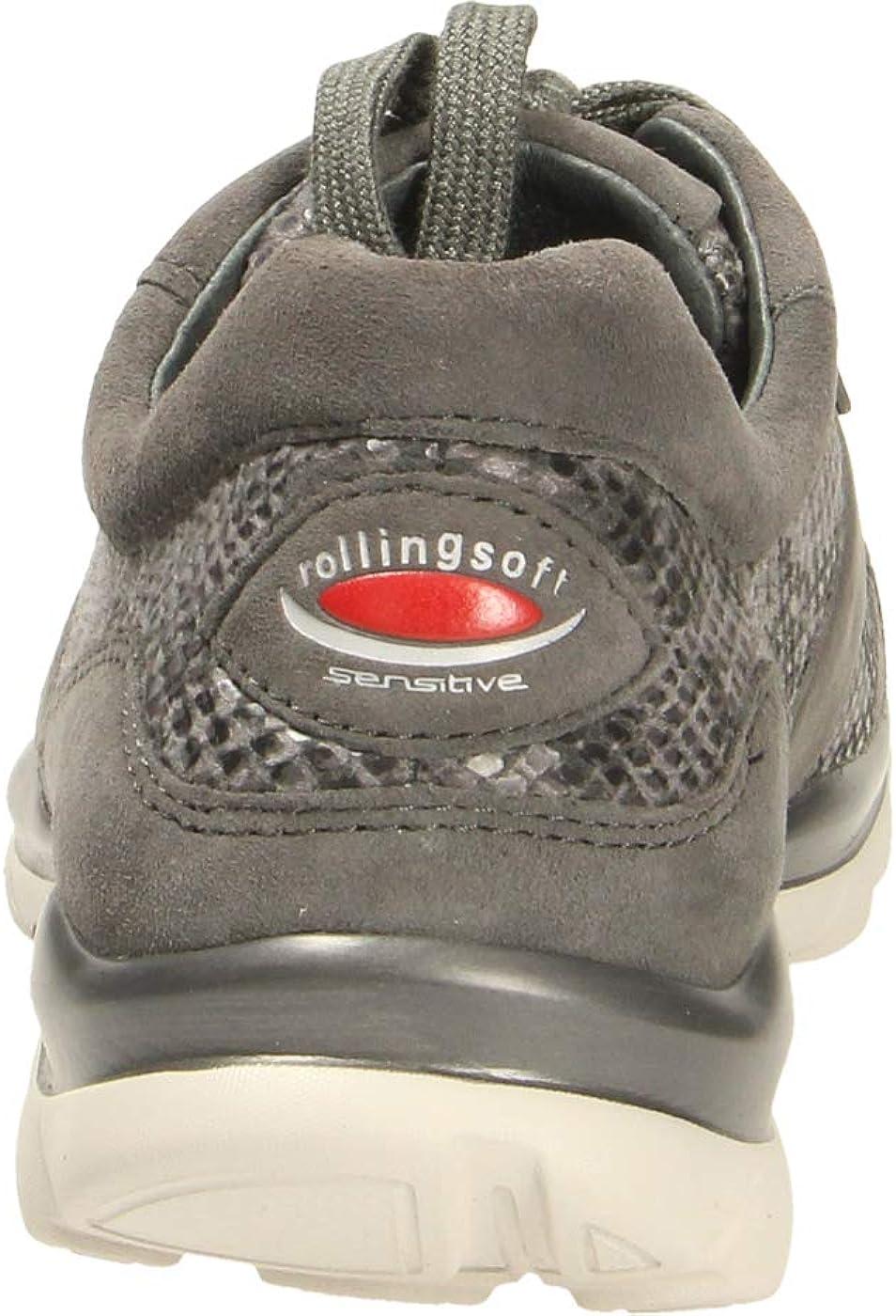 Gabor Donna Sneaker,Scarpe Sportive, Signora Basso Carbone ehp3A8