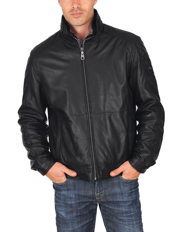 ABDys Men's Lambskin Leather jacket DKL308 Black