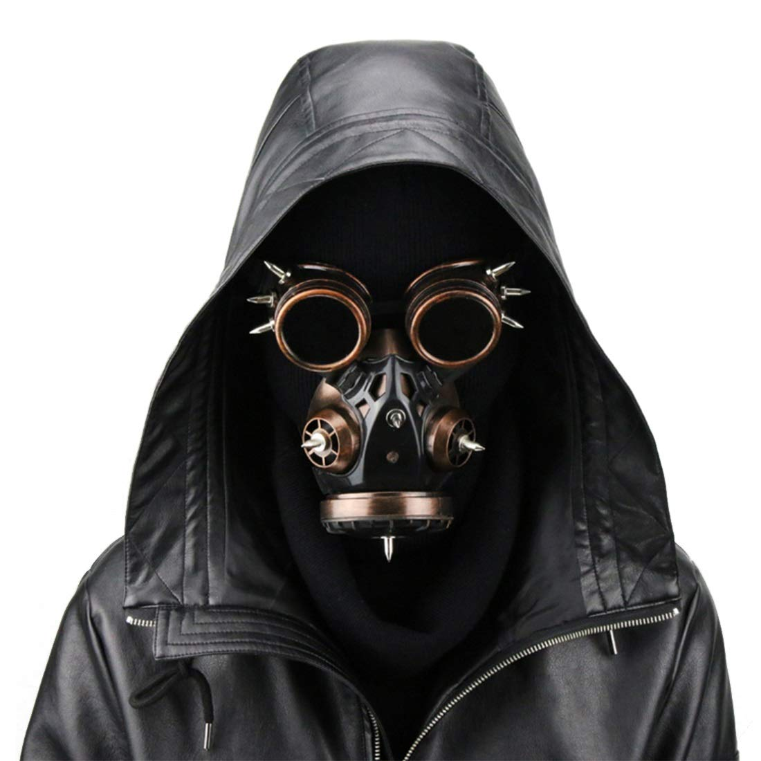 UZZHANG Biohazard Steampunk Gasmaske Goggles Spikes Skeleton Krieger Death Mask Masquerade Cosplay Halloween Kostüm Requisiten (Farbe   Style2) Style2
