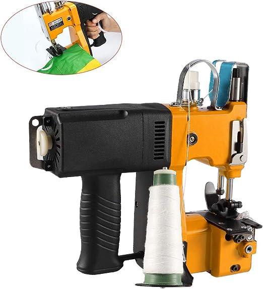 MaquiGra Máquina de Coser Portátil Eléctrica para Cerrar Bolsas Profesional Cosedora de Sacos Alta Velocidad y Coser rápido (Amarillo): Amazon.es: Ropa y accesorios