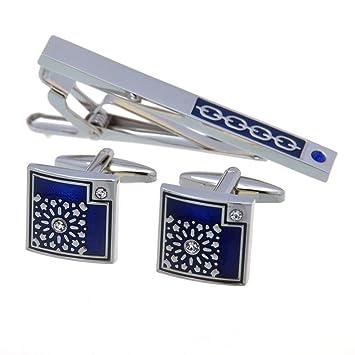 Juego de Pinzas de Corbata Azul Gemelos combinación de Pinza de ...