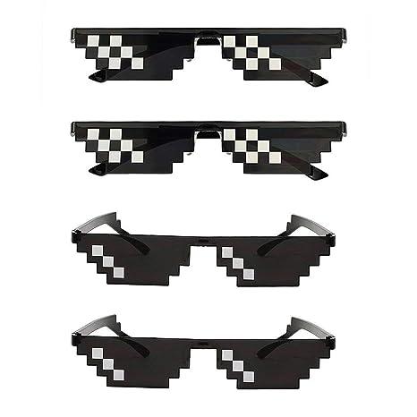 Hooggle - Juego de 4 Gafas de Sol Life para Hombre y Mujer ...