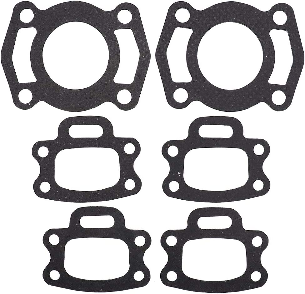 Exhaust Manifold Gasket & Head Pipe Gasket Kit 420950253 420850638 compatible with SeaDoo GS, GTI, SPX, Challenger 720, Speedster SK, Sportster L