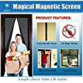 "Magnetic Screen Door - KEEP BUGS OUT Lets Fresh Air In. Premium Product with Full Frame Velcro. Fits Door Openings up to 34""x82"" MAX(2 Pieces FULL Frame Velcro included) from Grand Oasis"