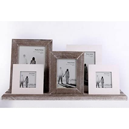 Amazon.com - Gainsborough Gifts Rustic 5 Wooden Photo Frames On A ...