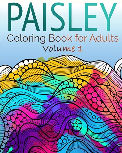 NEW Paisley Coloring Book For Adults