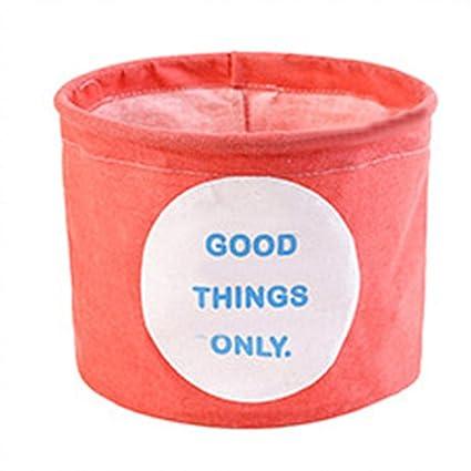 Cestas de almacenamiento, Algodón ropa de escritorio cesta de almacenamiento Miscelánea cesta de juguetes almacenamiento