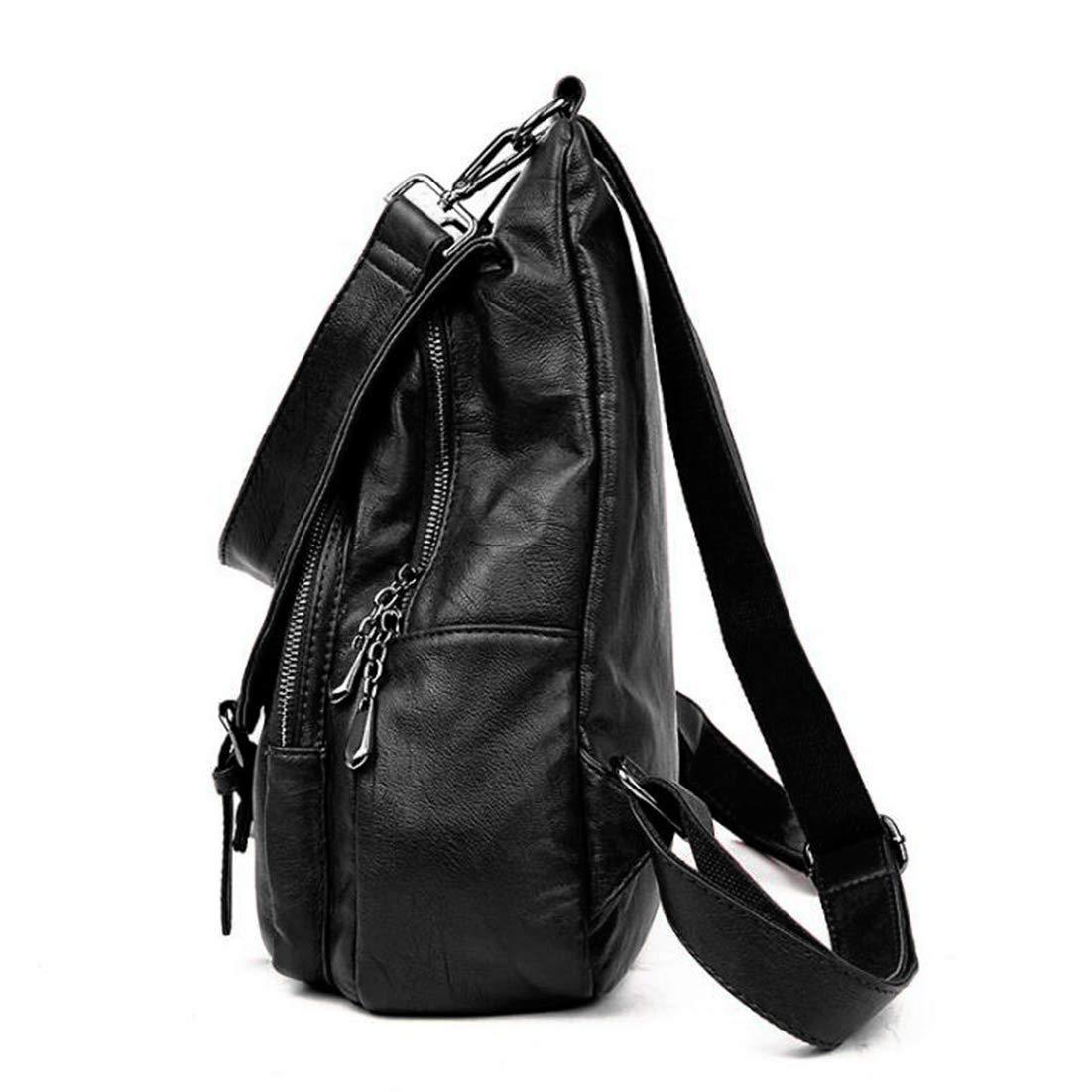 b97c7d5fec9dde Fashion Mode Damen Rucksack PU Leder Damentasche Schultertasche Handbag  Rucksäcke Frauen Rucksack 2 in 1 Damen ...