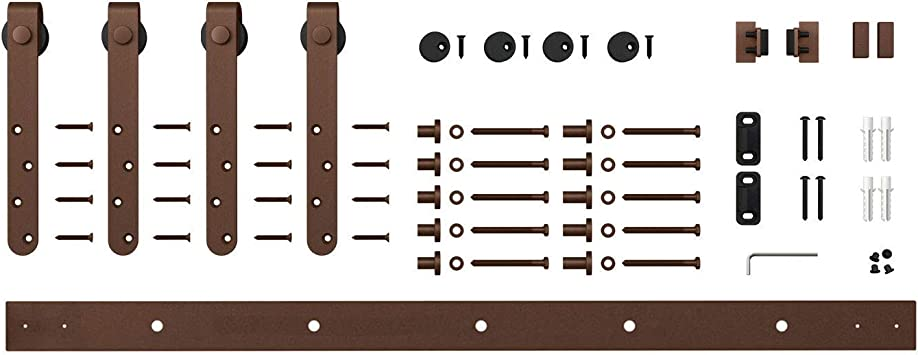 Oil Rubbed Bronze 5 ft Mini Cabinet Barn Door Hardware Architectural Products by Outwater Sliding Double Door Kit