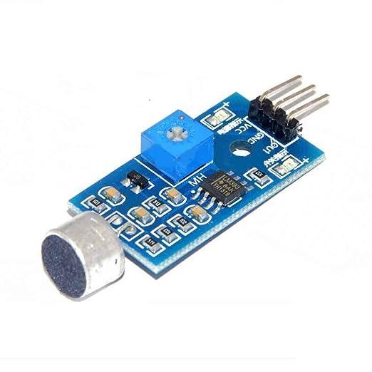 Módulo sensor de detección de sonido Sensor de sonido Vehículo inteligente para Arduino Regard: Amazon.es: Electrónica