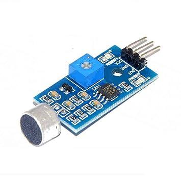 Módulo sensor de detección de sonido Sensor de sonido Vehículo inteligente para Arduino Regard