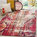 Safavieh Monaco Collection MNC222F Modern Bohemian Multicolored Distressed Area Rug