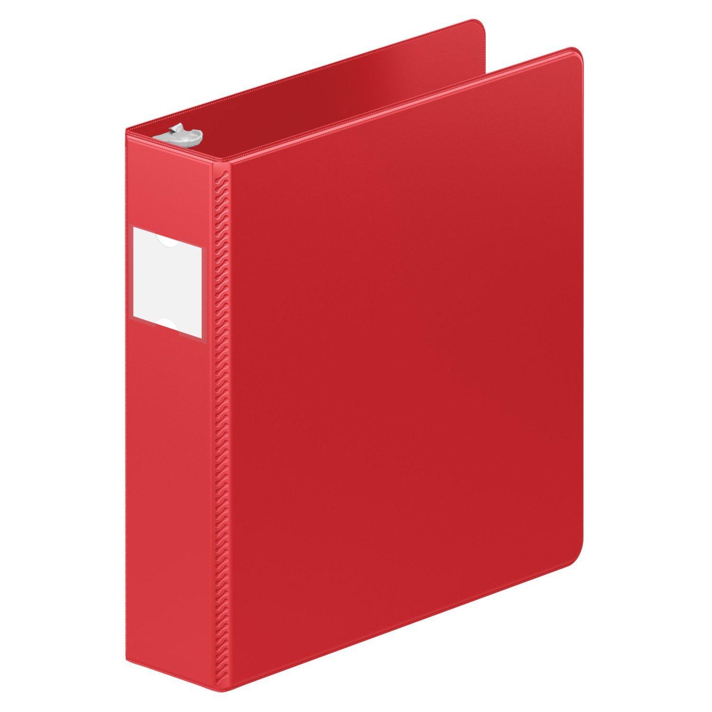 Wilson Jones ENVI Heavy Duty 2-Inch D-Ring Binder, Letter Size, 480-Sheet Capacity, Red (5050513829)