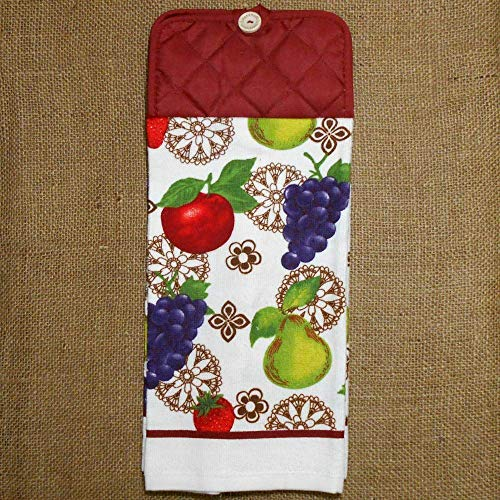 Apple Pear Grape Hanging Dish Towel, Fruit Themed Kitchen Decor ...