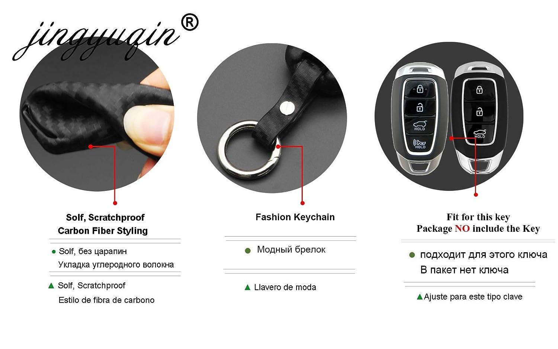 Amazon.com: AjaxStore - 3/4 Buttons Carbon Car Key Case For ...