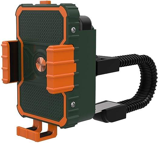 Negaor モバイル携帯電話ホルダー用自転車電話ホルダーサポートクリップスタンドGPSマウントブラケット、バッテリースロット付きグリーン