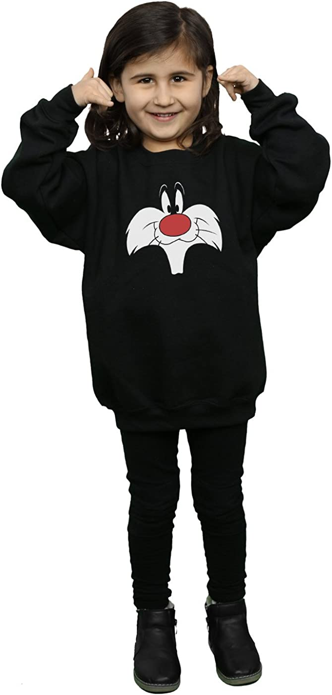 Looney Tunes Girls Sylvester Big Face Sweatshirt
