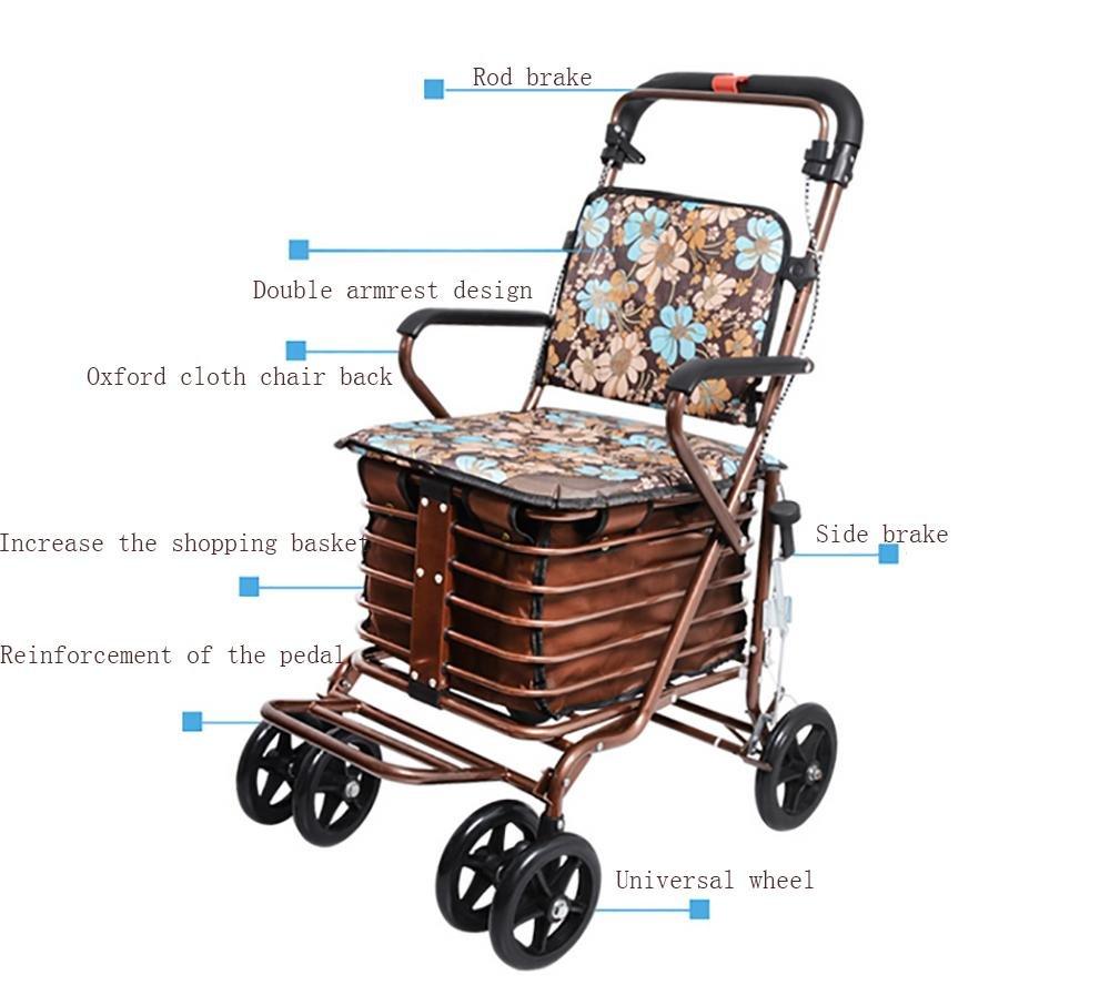 Amazon.com: HCC y personas mayores ligero carrito de la ...