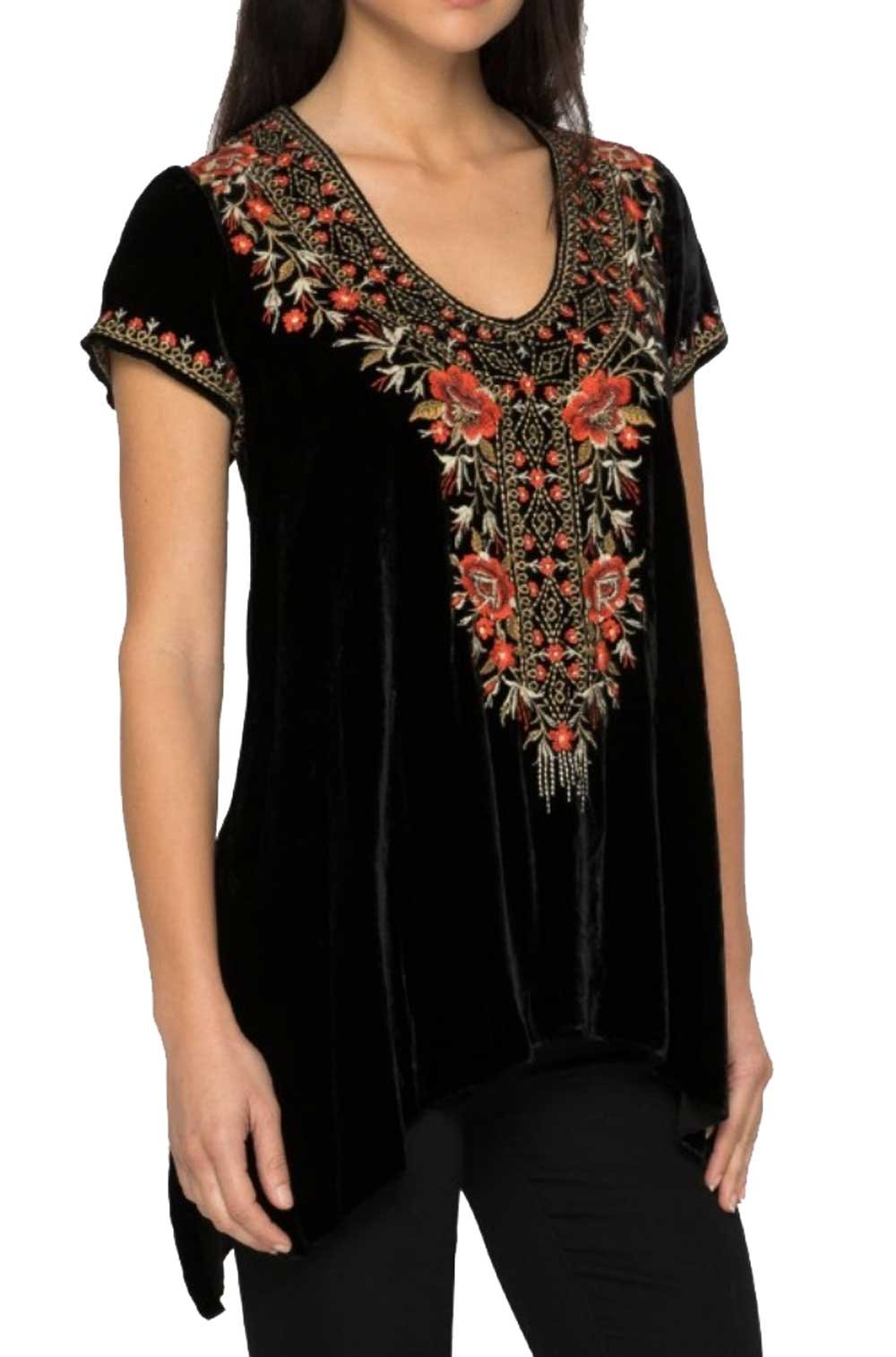 Johnny Was Women's Black Eleanor Velvet Drape Top by Johnny Was (Image #2)