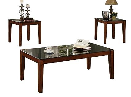 Trinity Antique Oak Coffee Table Set