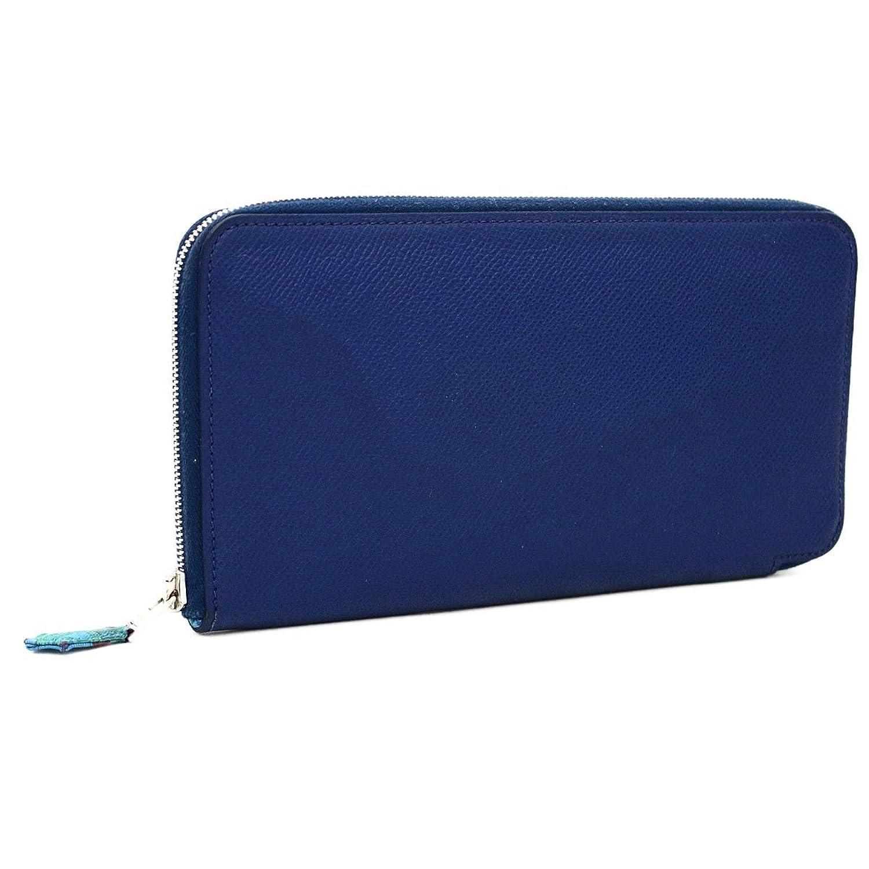 (エルメス) HERMES アザップロング シルクイン 長財布 ブルーオブスキュール □N刻印(2010年製造) B07DJ5H86N