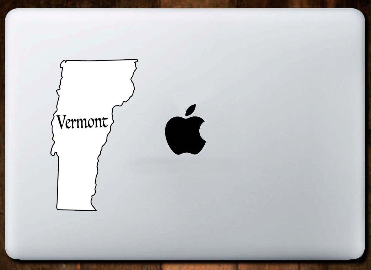 Perfect Vt Vacation Souvenir Gift State Bumper Sticker Die Cut White Vermont Vinyl Decal