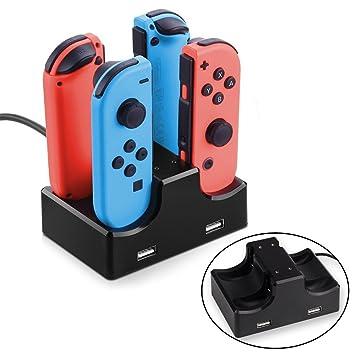 Amazon.com: 2 win2buy Nintendo Switch Joy con cargador Dock ...