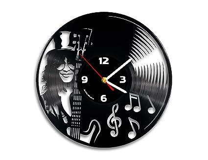 Slash de Guns N Roses Disco de vinilo reloj de pared