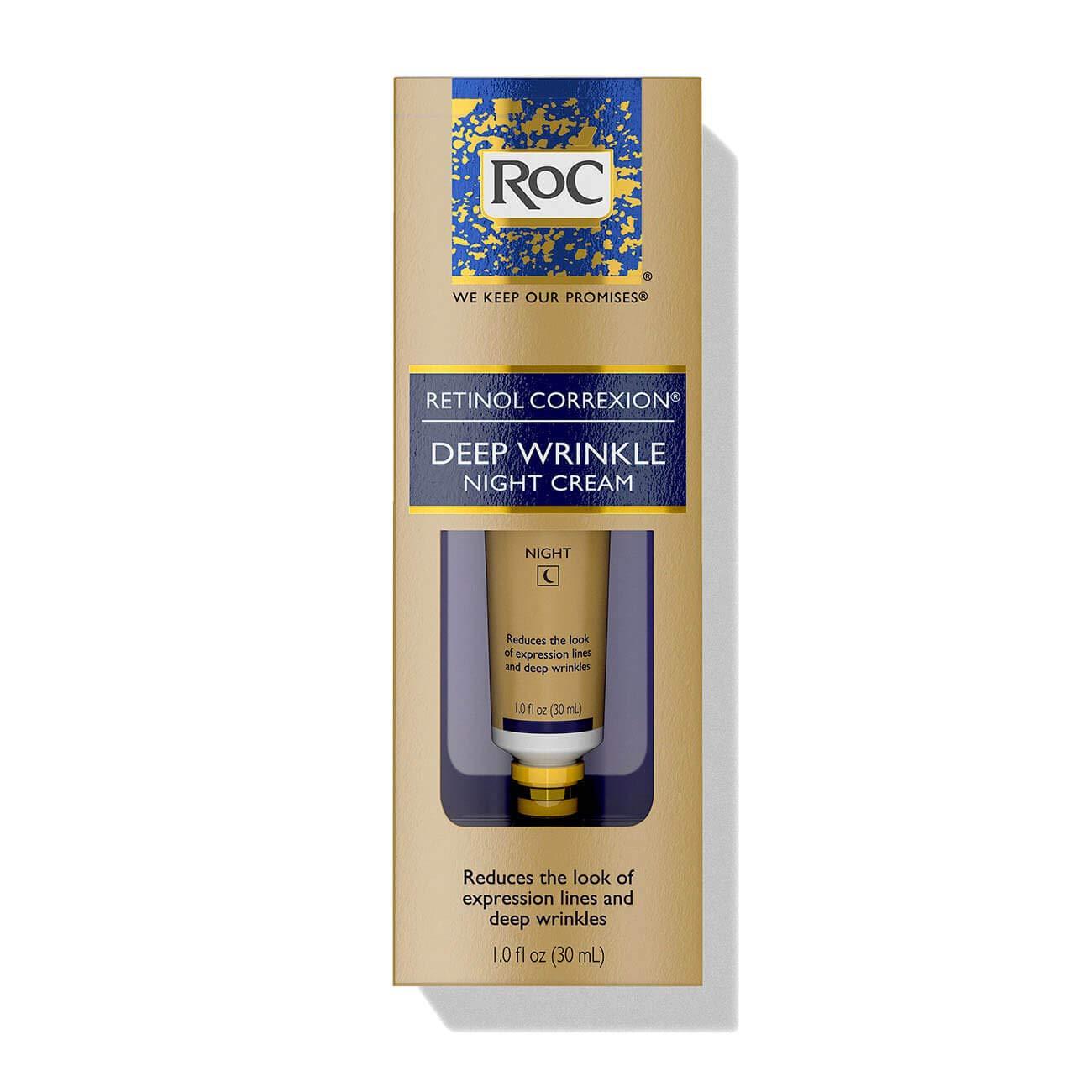 RoC Retinol Correxion Deep Wrinkle Night Cream 1.1 fl. oz (33ml) by RoC
