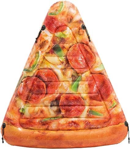 Intex 58752EU - Colchoneta hinchable Pizza 145 x 175 cms: Amazon.es: Juguetes y juegos