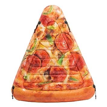 Intex 58752EU - Colchoneta hinchable Pizza 145 x 175 cm: Amazon.es: Juguetes y juegos