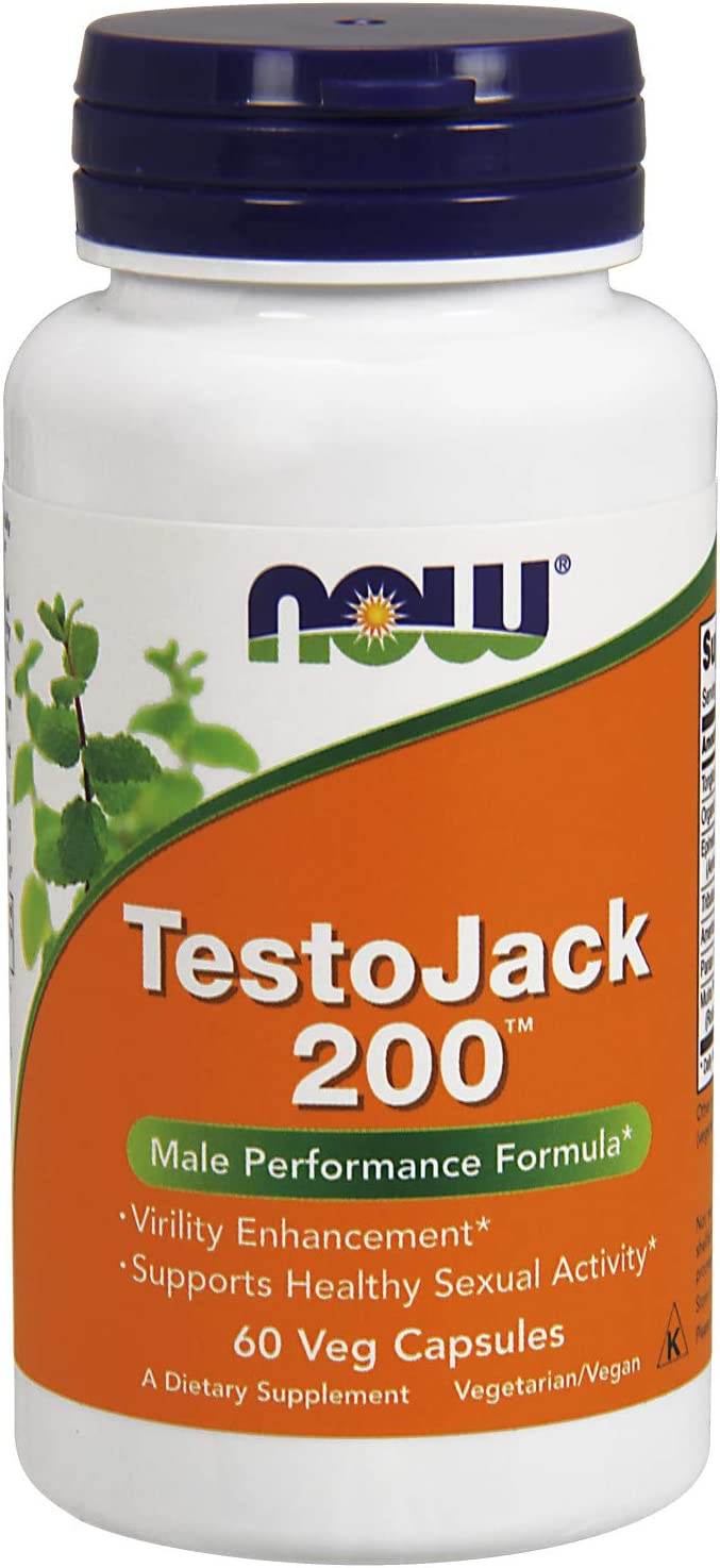 NOW Supplements, TestoJack 200 with Tongkat Ali, Tribulus, Maca and Horny Goat Weed, 60 Veg Capsules: Health & Personal Care