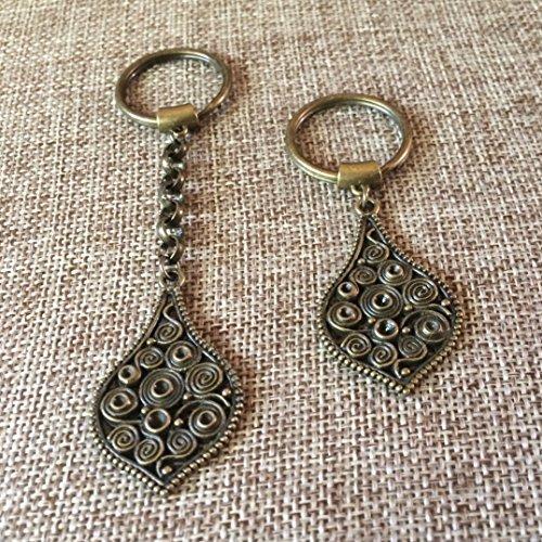Bronze Paisley Keychain Zipper Pull (Paisley Pull)