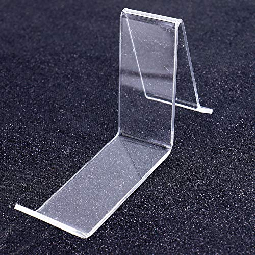 Monrocco 4 Pack/2 Pair Clear L- Shape Acrylic Shoe Display Stand Holder Perfect Stands for Shoes Display ()