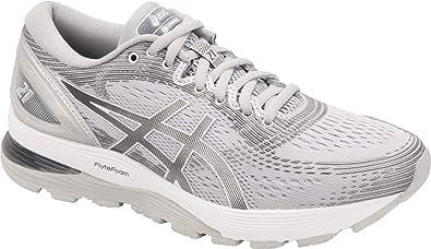 5ce89e2d ASICS Gel-Nimbus 21 Women's Running Shoe, Mid Grey/Silver, 7 W US