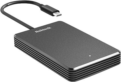 Nekteck - Disco Duro SSD NVME Thunderbolt 3 de 480 GB, Velocidad ...