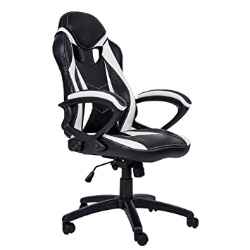 Admirable Merax Ergonomic Gaming Chair Racing Style Computer Desk Chair Pu Leather Adjustable Executive Office Chair High Back Swivel Chair For Home And Office Dailytribune Chair Design For Home Dailytribuneorg